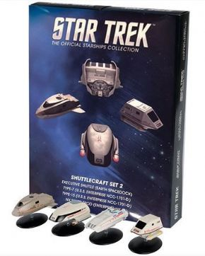 Star Trek Official Starships Collection Shuttlecraft Series 2 Set Eaglemoss
